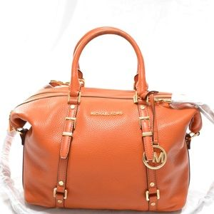 MICHAEL KORS Bedford Legacy Leather Orange Bag